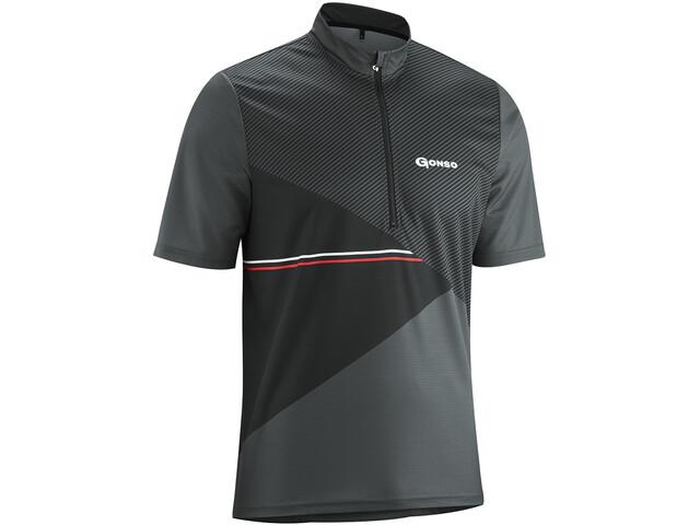 Gonso Ripo T-shirt de cyclisme avec zip pectoral Homme, graphite
